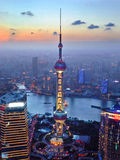 The oriental pearl radio & TV Tower Royalty Free Stock Photos