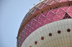 Oriental Pearl Tower. Detail of the lowest ball of the Oriental Pearl Tower in Shanghai, China Stock Photography