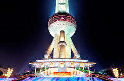 Oriental Pearl Tower closeup Stock Photography