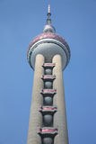 Oriental Pearl Tower - Looking Up Stock Image