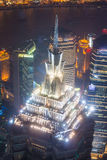Oriental Pearl Tower at the nighttime Stock Photography