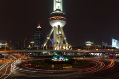 Oriental Pearl Tower Roundabout Royalty Free Stock Photo