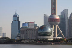 Oriental pearl tower in Shanghai Royalty Free Stock Photos