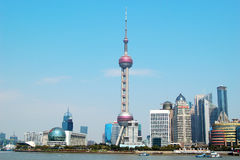 The Oriental Pearl Tower in Shanghai Royalty Free Stock Photos