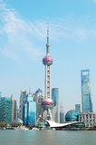 The Oriental Pearl Tower in Shanghai Royalty Free Stock Photography