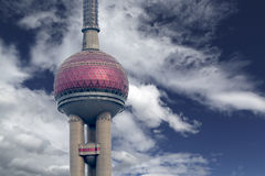 Oriental Pearl tower in Shanghai Stock Photos