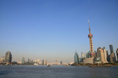 The Oriental Pearl TV Tower Of Shanghai Stock Photo