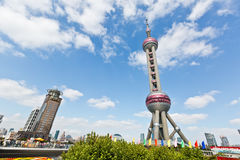 Oriental pearl TV tower,in Shanghai, China. Stock Image