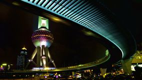 Oriental pearl TV Tower in Shanghai. Oriental pearl TV Tower night scene,Shanghai Royalty Free Stock Photography