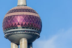 Oriental Pearl TV tower in Shanghai Stock Image