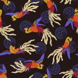 Oriental phoenix pattern stock illustration