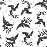 Oriental phoenix pattern Royalty Free Stock Photography