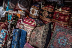 Oriental pillows souvenirs in Sarajevo Royalty Free Stock Image