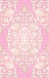 Oriental pink pattern. Oriental abstract pattern. Vector pink template for textile, shawl, carpet. Colorful ornament Royalty Free Stock Photo