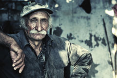 Oriental portait of a farmer / worker in location Royalty Free Stock Image