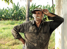 Oriental portait of a farmer / worker in location Royalty Free Stock Photography