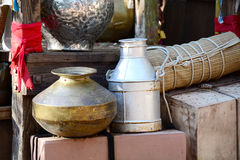Oriental Pots Royalty Free Stock Photography