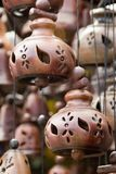 Oriental pottery bells. Asian Oriental pottery bells sold to tourists Royalty Free Stock Photo