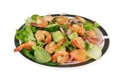 Oriental prawns shrimp salad. Royalty Free Stock Images