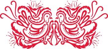 oriental ptasi wzór Obraz Stock