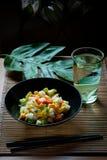 Oriental raw vegan salad Royalty Free Stock Image