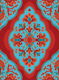 Oriental red and blue ornament. Stock Image