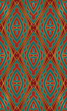 Oriental red and turquoise ornament. Oriental abstract ornament. Template for carpet, textile and any surface. Seamless colorful pattern on a red background Stock Photo
