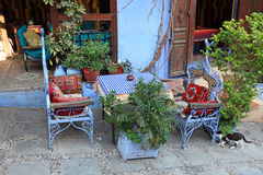 Oriental restaurant in Chefchaouen Royalty Free Stock Images