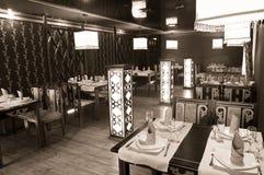 Oriental restaurant interior Stock Images