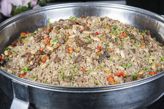 Oriental rice at a hotel restaurant buffet Royalty Free Stock Photo