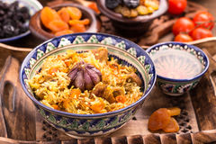 Oriental rice pilaf Stock Images