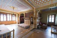 Oriental room at Oberhofen Castle, Switzerland stock image