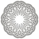 Oriental rosette pattern grayscale Royalty Free Stock Images