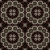 Oriental rosewood scrollwork screen Stock Image