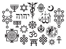 Oriental Sacral Religious Symbols Royalty Free Stock Photos