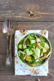 Oriental salad with cucumber and chicken Stock Photos
