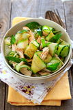 Oriental Salad With Cucumber And Chicken Stock Photo