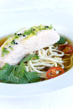 Oriental salmon soup Royalty Free Stock Images