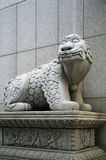 Oriental sculpture. The city sculpture in the Seoul centre, South Korea stock photography