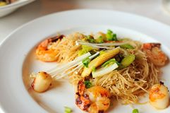 Oriental seafood vermicelli Royalty Free Stock Photography