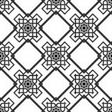 Oriental seamless background , combination weave double lines Royalty Free Stock Photo