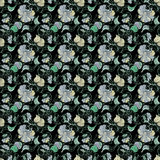 Oriental Seamless Floral Pattern Stock Photos