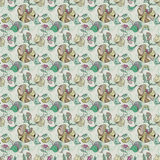 Oriental Seamless Floral Pattern Stock Images