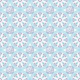 Oriental seamless geometric fabric pattern. Ethnicity ornament. Ornamental background, texture, tiled. Floral elements. Oriental seamless geometric fabric Royalty Free Stock Photography