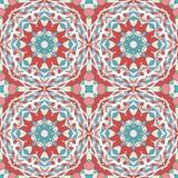 Oriental seamless geometric fabric pattern. Ethnicity ornament. Ornamental rounds background, texture, tiled. Circles mandala. Oriental seamless geometric fabric Royalty Free Stock Images