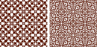 Oriental seamless graphic abstract pattern brown color Stock Photography