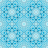 Oriental seamless mosaic pattern Stock Image