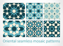 Oriental seamless mosaic patterns Royalty Free Stock Photography