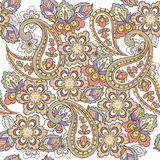 Oriental seamless paisley pattern in pastel colors. Decorative ornament backdrop for fabric, textile, wrapping paper. vector illustration