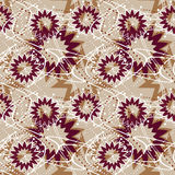 Oriental seamless pattern arabesque brown elements texture backg Stock Photo